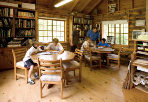 Interior of Nature Library shortly after it was built (c. 1996)